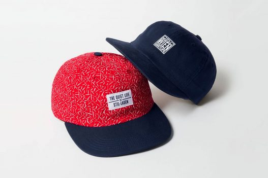The Quiet Life Stil Laden Baseball Caps in Rot und Schwarz