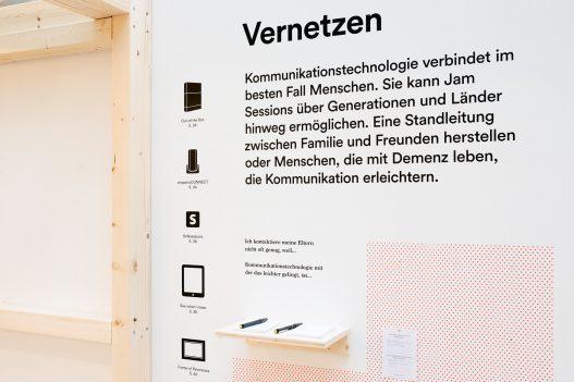 Design Diversity Detailaufnahme der Ausstellung zum Thema Vernetzen