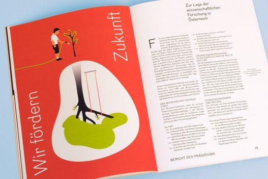 FWF Jahresbericht 2016 Detailseite mit Illustration