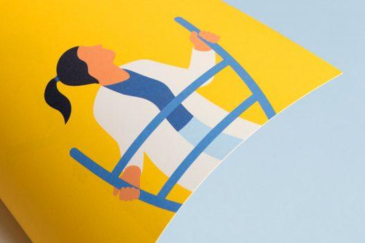 FWF Illustration Frau auf Leiter