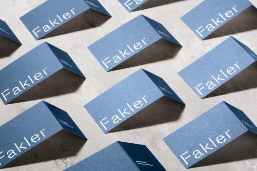 Visitenkarten des Fakler Architekturbüros