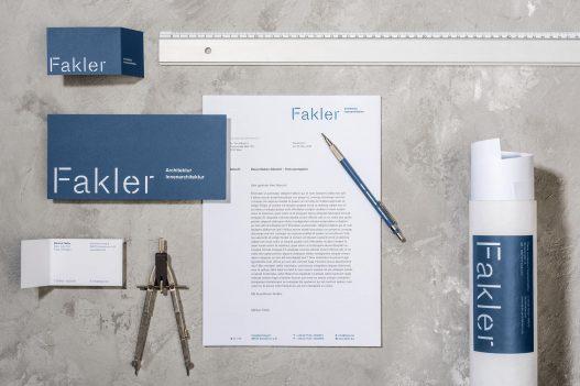 Fakler Architekten Briefpapier und Visitenkarten