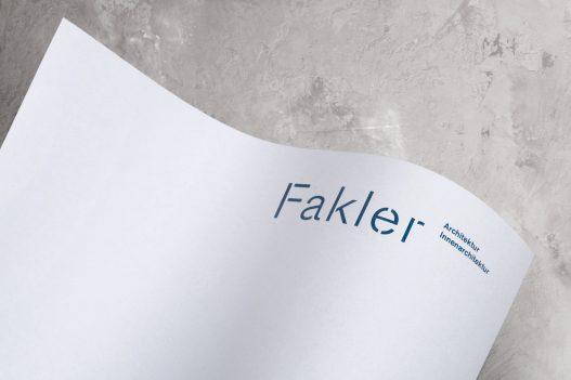 Fakler Architekten Briefpapier