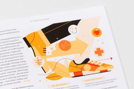 Illustration Detail im A1 Nachhaltigkeitsbericht 2015/2016