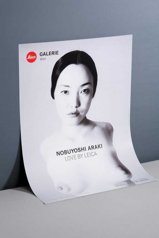 Leica Galerie Poster zu Nobuyoshi Araki Ausstellung