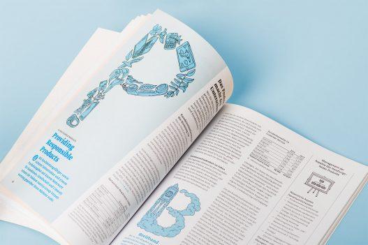 Detailansicht zum Buchstaben P der A1 Sustaincyclopedia 2014/2015