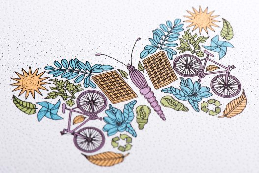 Schmetterling Illustration A1 Telekom Sustaincyclopedia