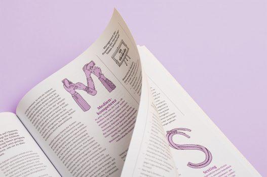 Detailansicht zu Buchstaben M und S der Sustaincyclopedia der A1 Telekom