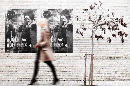 Poster zur 100 Jahre Leica Foto Ausstellung im WestLicht