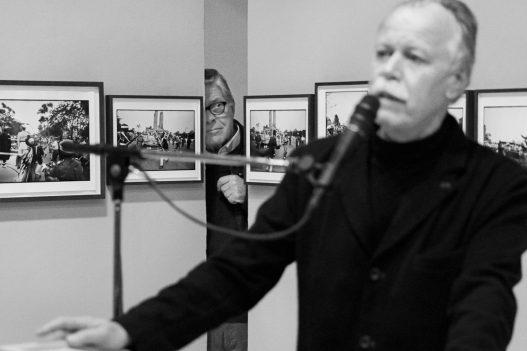 Speaker bei Eröffnung einer WestLicht Ausstellung