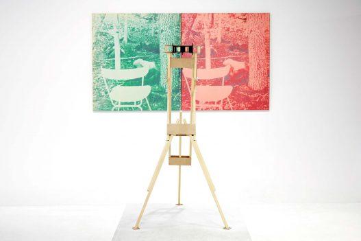 Grün-Rotes Foto bei WestLicht Ausstellung