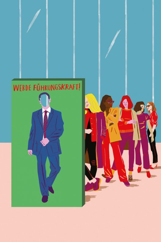 Werde Führungskraft Illustration