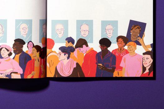 IHS Studie Illustration mit Menschengruppe