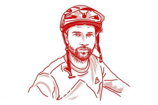 Illustration Mann mit Helm
