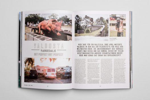 Valdosta Yardsale Doppelseite im The Cable Magazin