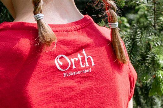 Orth Biobauernhof rotes Tshirt