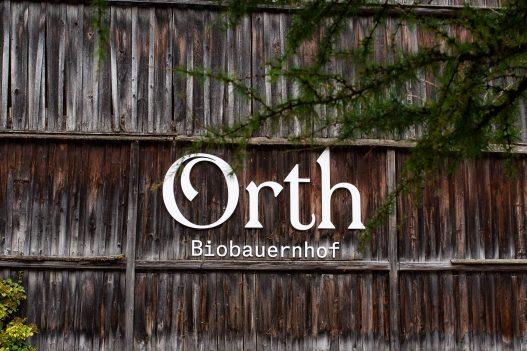 Orth Biobauernhof Schriftzug