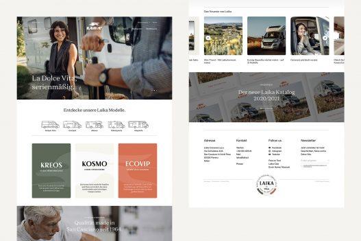Laika Website Landingpage