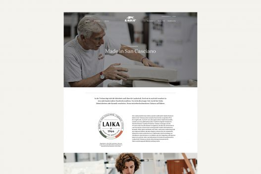 Laika Website Made in San Casciano